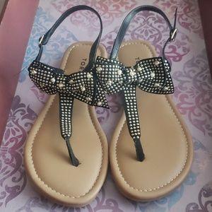 Torrid Studded Bowtie Sandals